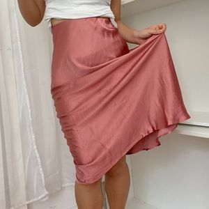 Abercrombie & Fitch Silky Midi Skirt